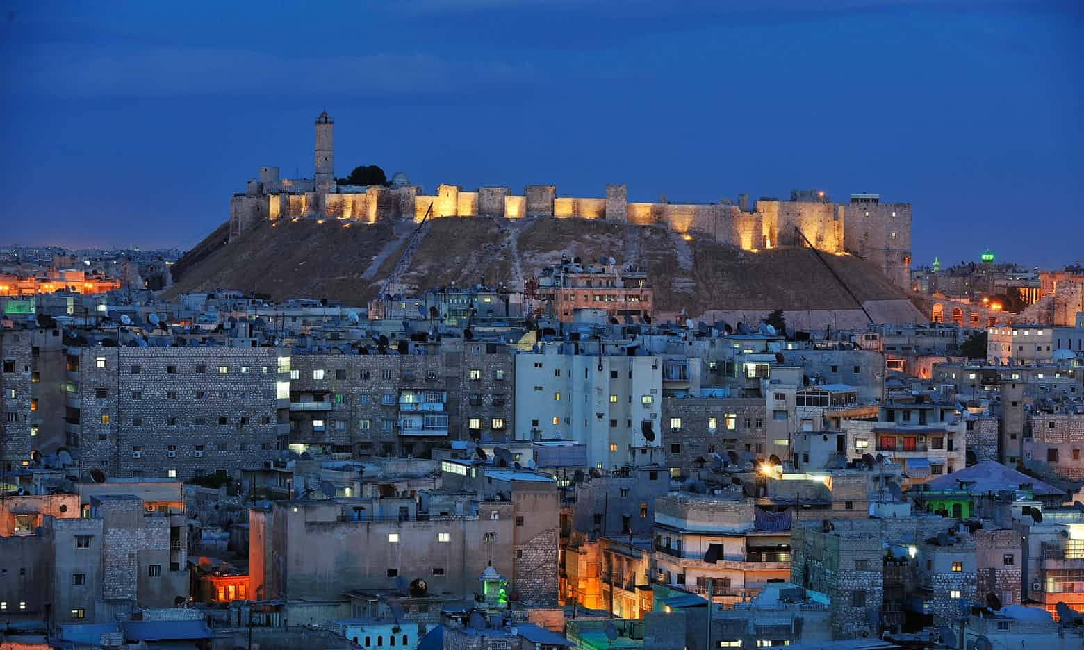 Aleppo's Citadel in 2008. Courtesy of Jean-Baptiste Rabouan/Hemis.fr. Used with permission.